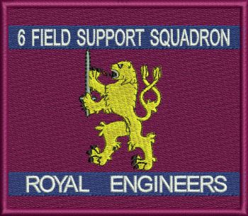 6 Fd Sqn embroidered badge